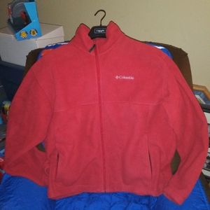 Columbia Red Fleece Full Zip Jacket XL
